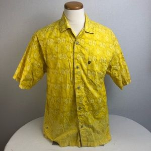 The North Face yellow A5 Series shirt Cotton Sz L
